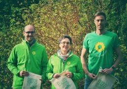 Arne Heinold (WK 12), Finanzministerin Monika Heinold und Dennis Mihlan (WK 1)